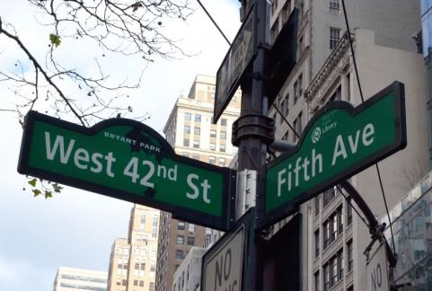 マンハッタンの標識