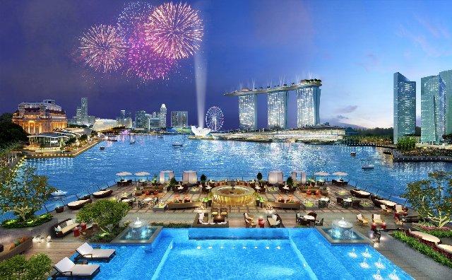 =ビジネスクラスご利用= ★現地送迎は往復専用車★ 【SQ631(午前発)】 ※フラトンベイホテルシンガポール(デラックスルーム・2泊)に泊まる※ シンガポール3日間