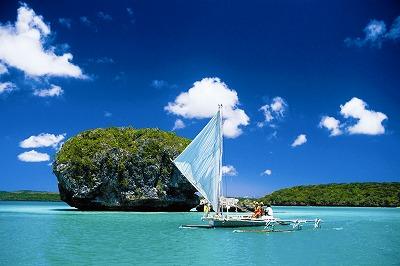 美しい風景のイルデパン島/ウピ湾