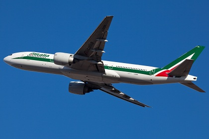 アリタリア航空機影