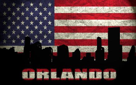 オーランドとアメリカ国旗